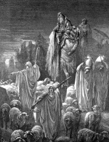 Поль Гюстав Доре. Иллюстрация к Библии: Иаков переселяется в Египет