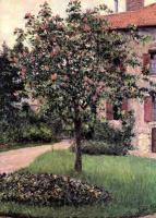 Гюстав Кайботт. Пти-Женвильер. Юго-западный фасад мастерской художника. Весенний сад