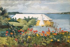 Уинслоу Хомер. Цветущий сад и бунгало. Бермуды