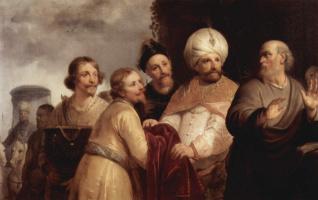 Франс Питерс де Греббер. Елисей отвергает дары Неемана