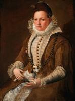 Лавиния Фонтана. Портрет дамы с комнатной собачкой