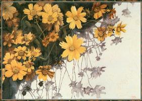 Джанет Браун. Желтые цветы