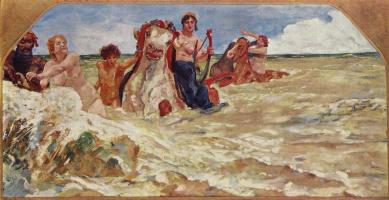 Макс Клингер. Стенная роспись виллы Альберс: Морская богиня в волнах прибоя