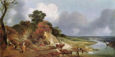 Thomas Gainsborough. View near the village of Cornard