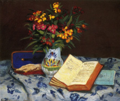 Арман Гийомен. Натюрморт с голубой коробкой