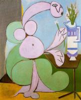 Пабло Пикассо. Женщина с букетом