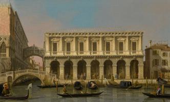 Джованни Антонио Каналь (Каналетто). Венеция. Тюрьма и Мост Вздохов, северо-западный вид с балкона