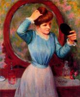 Федерико Дзандоменеги. Зеркало (Женщина, закрепляющая причёску)