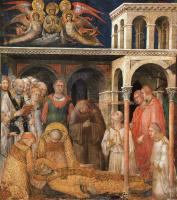Симоне Мартини. Смерть Святого Мартина