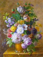 Saveliy Kamsky. Bouquet with tulips in baroque style