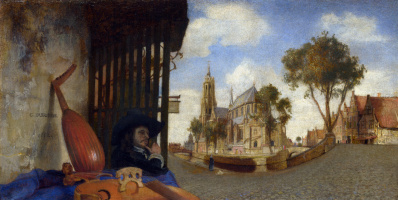 Karel Fabricius. View Of Delft