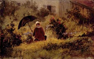 Karl Spitzweg. The artist in the garden