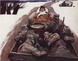 "Illustration to A. Tvardovsky's poem ""Vasily Turkin"". 1975"