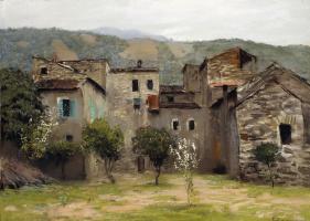 Исаак Ильич Левитан. Близ Бордигеры. На севере Италии.  Вариант одноименной картины 1890 года