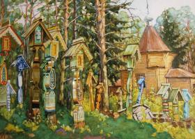 Vladimir Aleksandrovich Plotnikov. Old believers cemetery