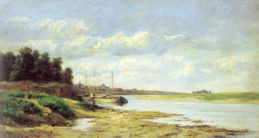 Сергей Николаевич Аммосов. Барки на реке