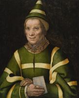 Ян Сандерс ван Хемессен. Портрет Элизабет, шутовки при дворе Анны Венгерской