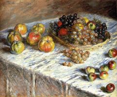 Натюрморт с яблоками и виноградом