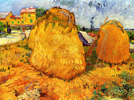 Vincent van Gogh. Haystacks in Provence