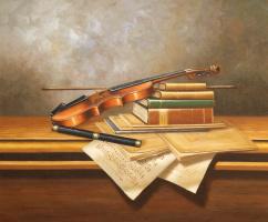 Савелий Камский. Натюрморт со скрипкой