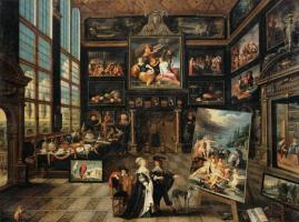 Cornelis de Baellieur. Интерьер галереи с предметами искусства