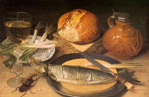 Георг Флегель. Натюрморт с рыбой