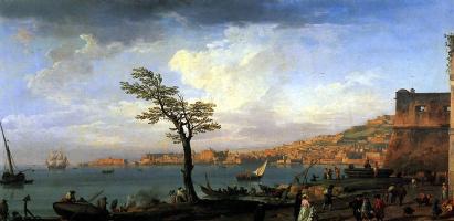 Клод Жозеф Верне. Вид Неаполитанского залива