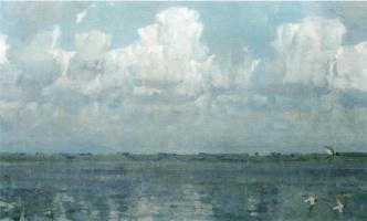 Сергей Александрович Гавриляченко. Облака. Озеро Неро. 1999
