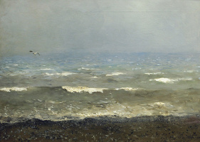 Isaac Levitan. Coast of the Mediterranean sea