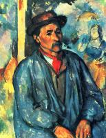 Поль Сезанн. Крестьянин в голубой блузе
