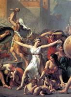 Жак-Луи Давид. Сабинянки, останавливающие битву между римлянами и сабинянами. Фрагмент II