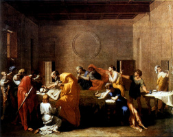 """Extreme unction from the series """"Seven sacraments"""""""