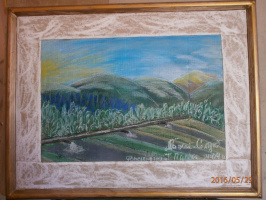 "Марианна Дмитриевна Солтук. Вид на горы и форелевое хозяйство"" Шипот"""
