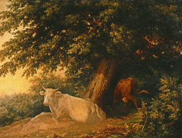 Михаил Иванович Лебедев. Пейзаж с коровами