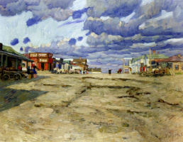 Константин Федорович Юон. Город Воскресенск . 1908