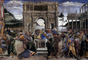 Sandro Botticelli. The punishment of the rebellious Levites