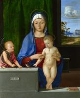 Антонио де  Соларио. Дева с младенцем и Святой Иоанн