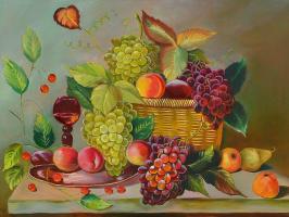 Lyudmila Fedorovna Andreeva. Still life with a glass