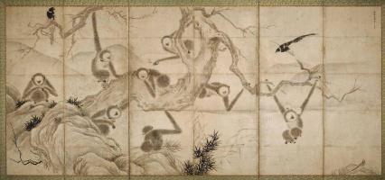 Sesshu ни один Тойо. Обезьян и птиц