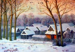 """And in Gorbatovka again winter"""