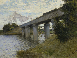 Клод Моне. Железнодорожный мост, Аржантёй