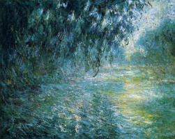 Claude Monet. Morning on the Seine in the rain