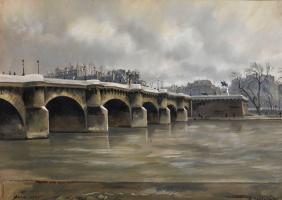 Александр Борисович Серебряков. Париж, Пон-Нёф (Новый мост).1934