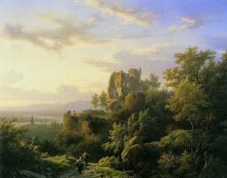 Баренд Корнелис Куккук. Рейнский пейзаж