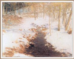 Георг Харви. Зимний пейзаж