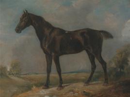 John Constable. Black riding horse