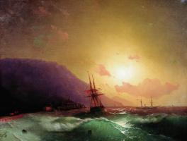 Ivan Aivazovsky. Off the coast of Yalta