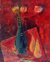 Zakir AHMED Ahmedov. .Pears 2014year21x17in Original Painting Oil on Canvas