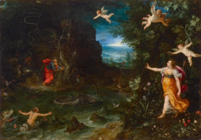Jan Bruegel The Elder. Allegory of Life (Sleep of Raphael) (in collaboration with Hans Rottenhammer) 1595