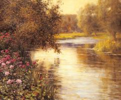 Луи Астон Найт. Цветение весной  вдоль извилистой реки